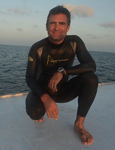 Frederic chotard Nager avec les dophins